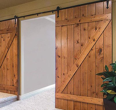 KV Barn Door hardware double doors image