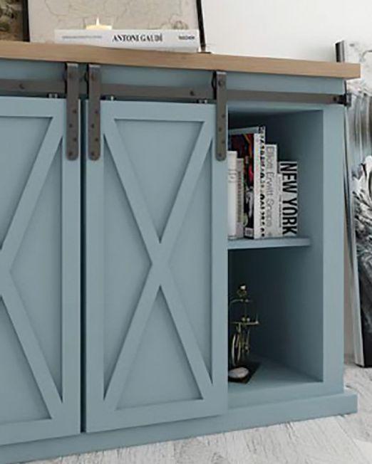 KV Mini Flat Rail for furniture double doors image