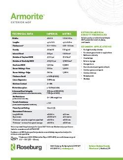 Armorite Technical Data Sheet